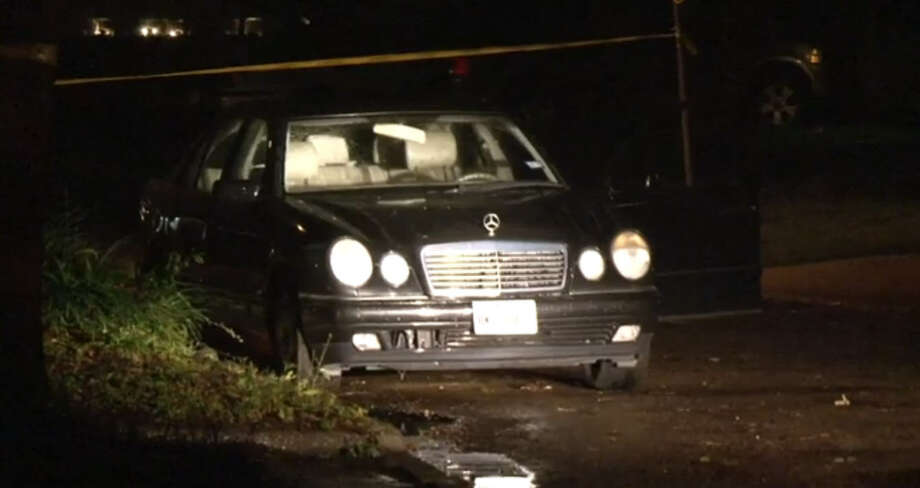 Two men were shot multiple times overnight in a car parked in a northwest Houston neighborhood, leaving one dead and the other critically wounded. Photo via Metro Video.