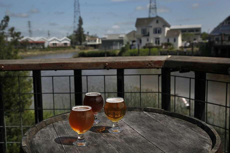 Taps has seating along the Petaluma River. Photo: Preston Gannaway, GRAIN/Special To The Chronicle