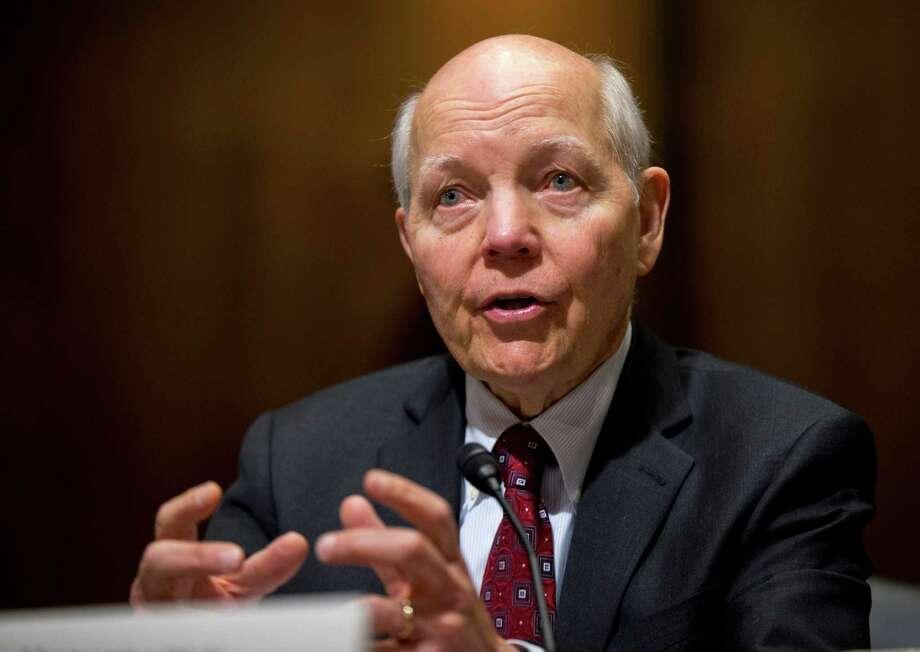 Internal Revenue Service (IRS) Commissioner John Koskinen testifies this year on Capitol Hill in Washington.  Photo: Manuel Balce Ceneta / AP