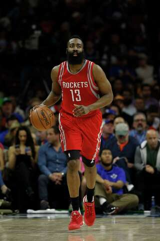 a480d2bf91b7 Houston Rockets  James Harden in action during an NBA basketball game  against the Philadelphia 76ers