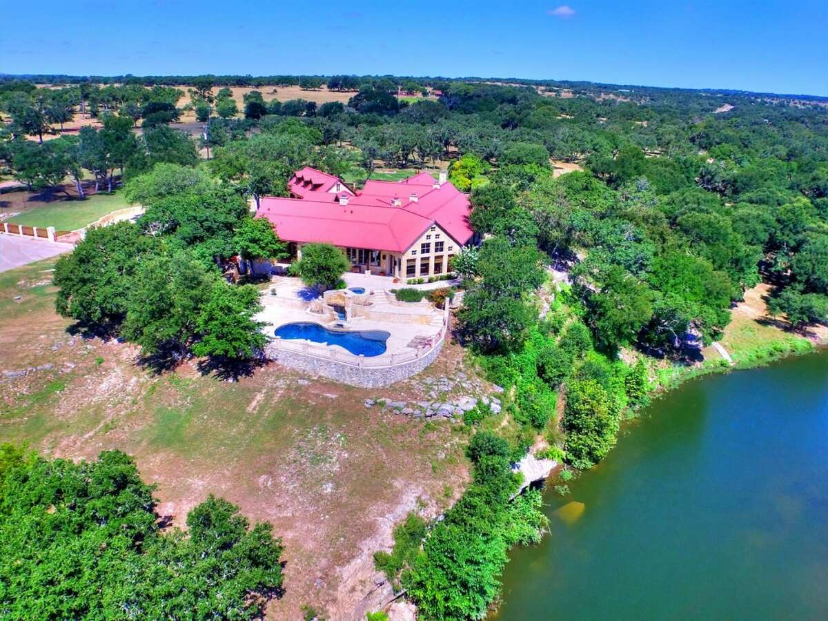 The 96-acre estate, about 40 minutes west of Austin, overlooks Fitzhugh Creek.