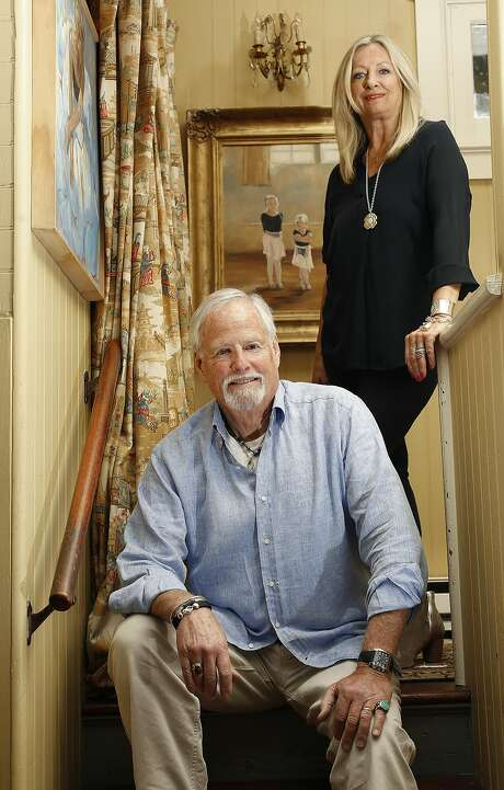 Bouvier Beale and his wife Eva Beale at their home in Marin County. Photo: Liz Hafalia, The Chronicle