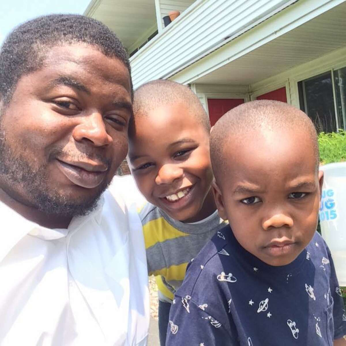 Edson Thevenin, 37, at left, with his two sons. (Facebook)