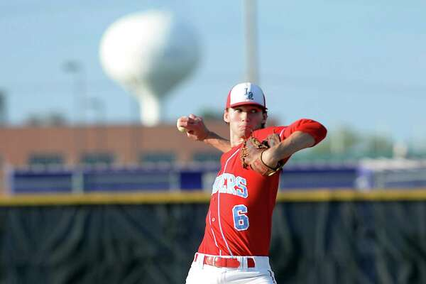 Lumberton's Brandon Young opens on the mound for the Raiders as they take on Port Neches-Groves during Friday's District 22-5A match-up at PN-G. Photo taken Friday, April 15, 2016 Kim Brent/The Enterprise