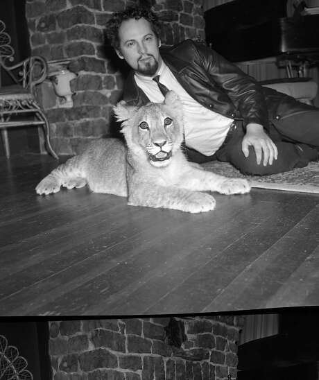 Anton LaVey, Church of Satan founder, with his lion, Togare. Photo: Unknown, The Chronicle