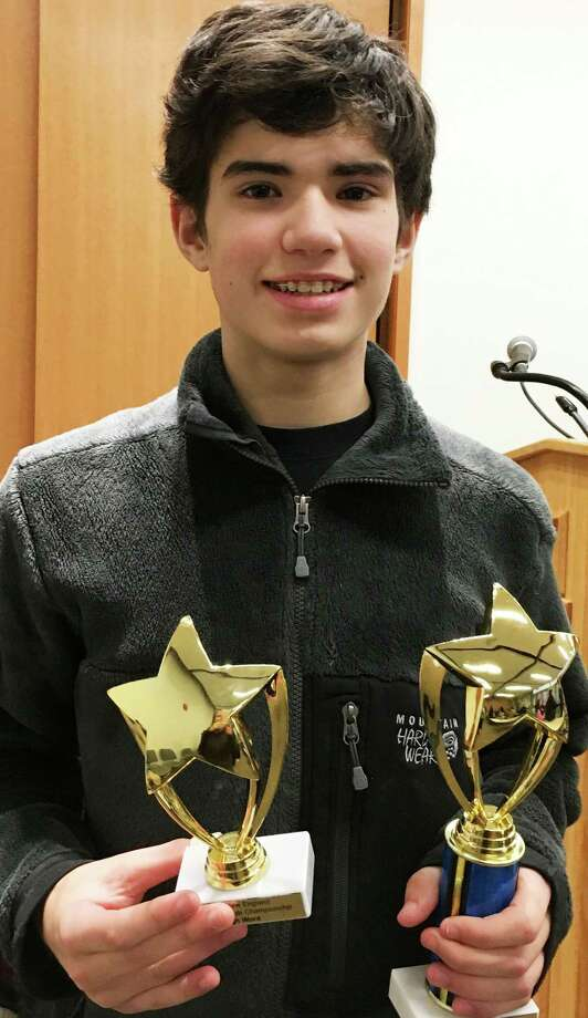 Jonas Brown, a Tomlinson Middle School seventh-grader and Pequot Library Scrabble Club member, won the ninth annual New England Scrabble Championship. Photo: Contributed Photo / Fairfield Citizen