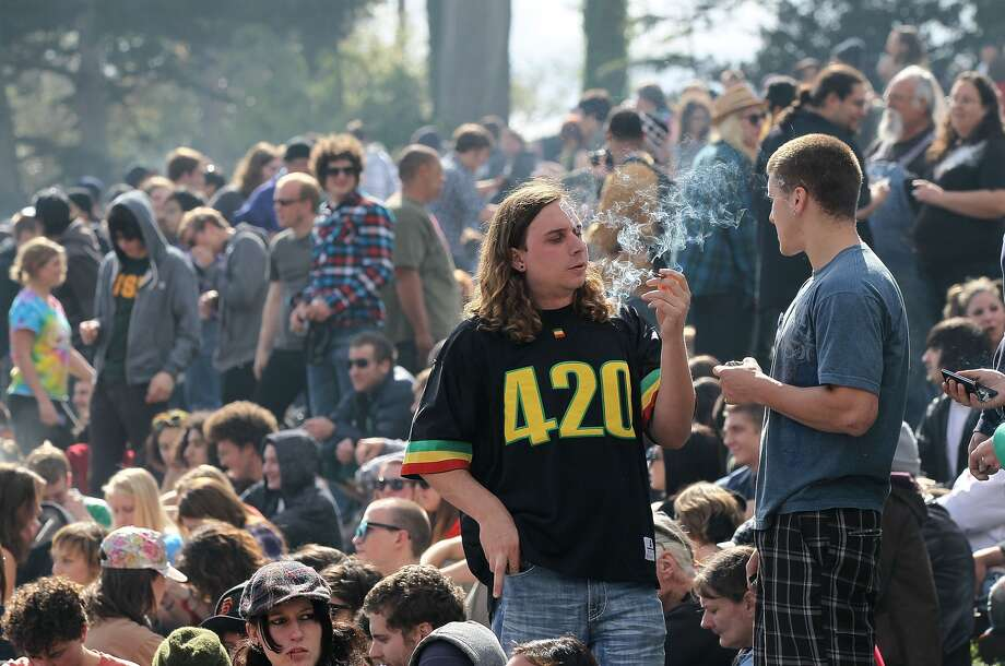 Smokers enjoy 420 on Hippie Hill, sans tickets.