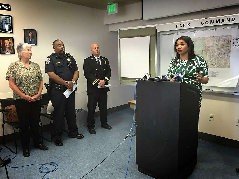 San Francisco Board of Supervisors President London Breed announced plans to cut down on trouble during this year's 4/20 celebration at Golden Gate Park at a Monday morning press conference. Photo: Evan Sernoffsky