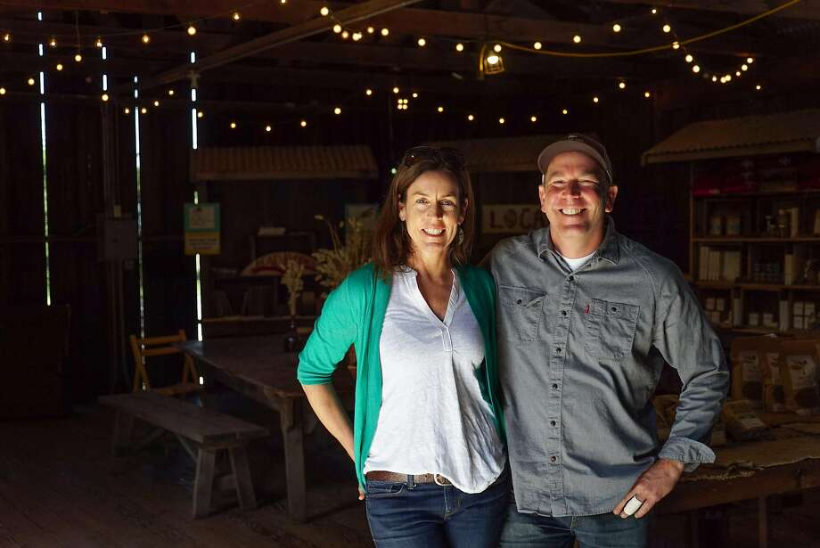 Nancy Vail and Jered Lawson at Pie Ranch in Pescadero. Photo: James Tensuan, Special To The Chronicle