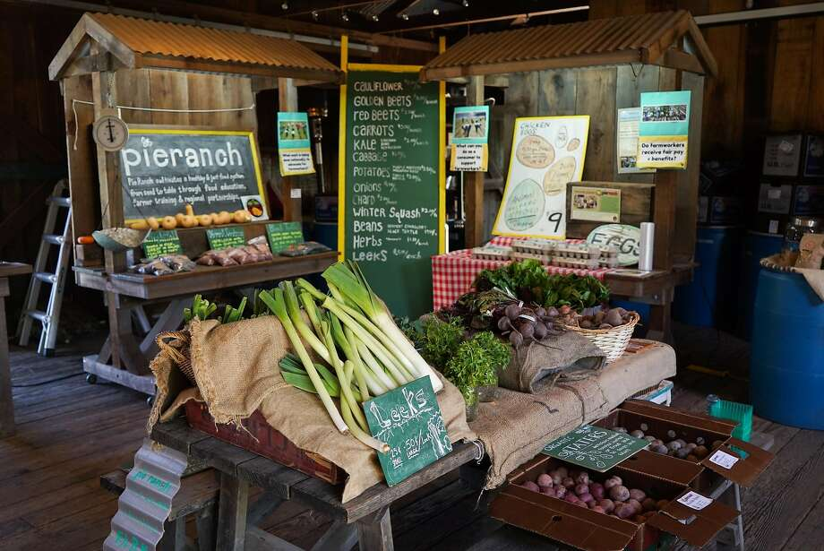The Pie Ranch farm stand, which sells produce and pies, in Pescadero. Photo: James Tensuan, Special To The Chronicle