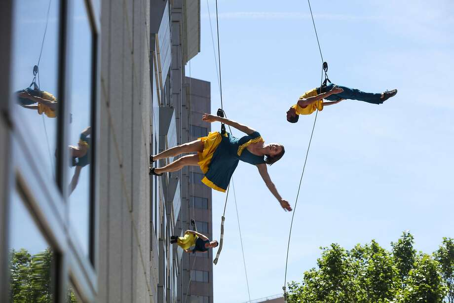 Bandaloop will be giving a free performance at Fairfield University's Bannow Science Center in Fairfield on Friday. Find out more. Photo: Gabrielle Lurie, Special To The Chronicle
