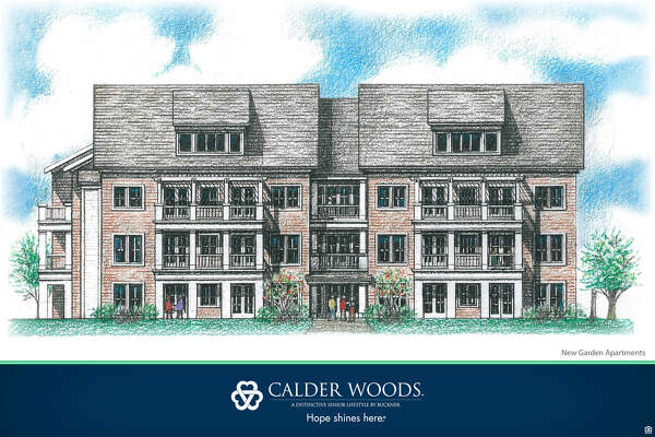A rendering of the new independent living apartments planned for Calder Woods.Photos courtesy of D2 Architecture.