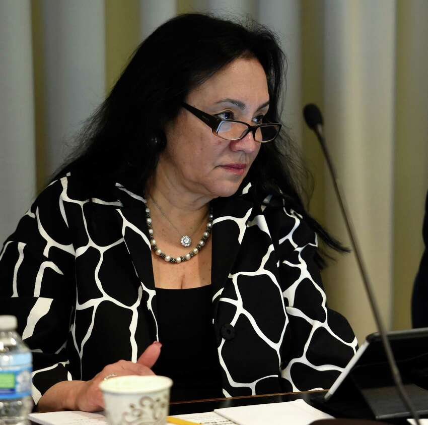 Chancellor Betty Rosa listens to discussion during the Board of Regents meeting at the Education Building Monday April 18, 2016 in Albany, N.Y. (Skip Dickstein/Times Union)