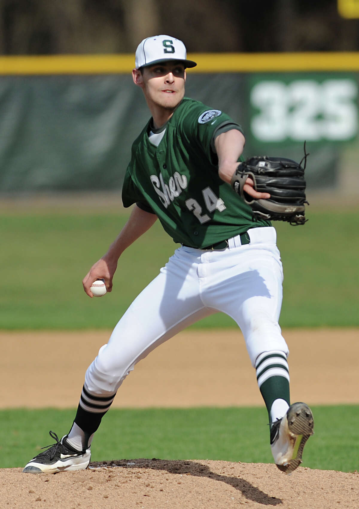 Shenendehowa pitcher Ben Anderson throws the ball during a baseball game against Saratoga on Monday, April 18, 2016 in Clifton Park, N.Y. (Lori Van Buren / Times Union)