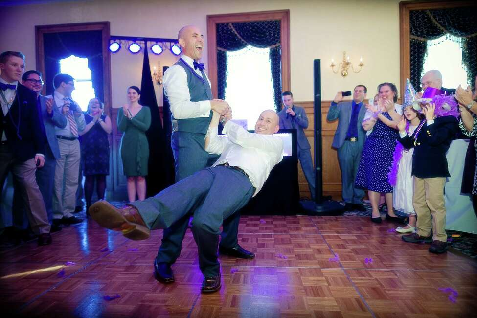 Robert LaRocca and Christopher Rambo's reception at The Stockade Inn in Schenectady. (Jeff Foley Photography)