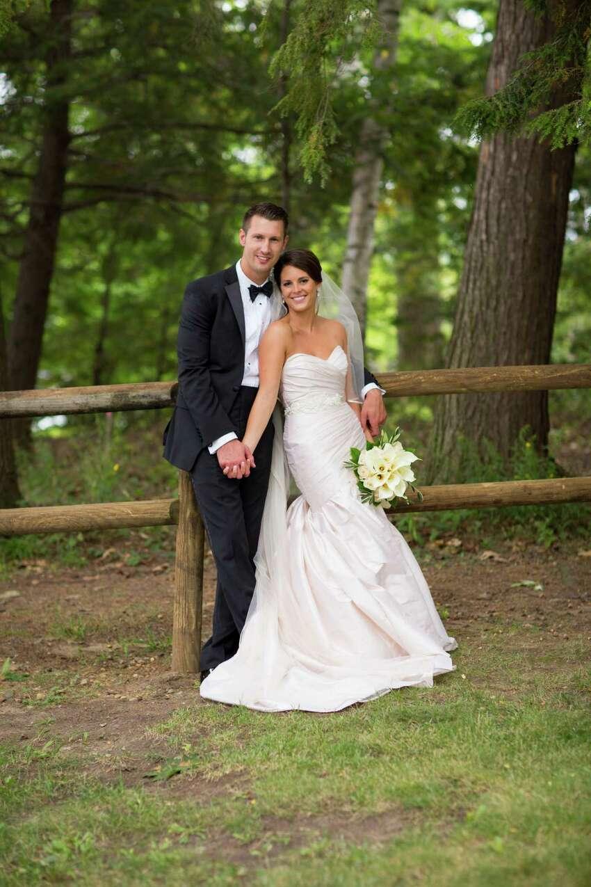 Cira Masters and Cory Carson pose at their September 12, 2015 nuptials. (Dave Bigler Photography)