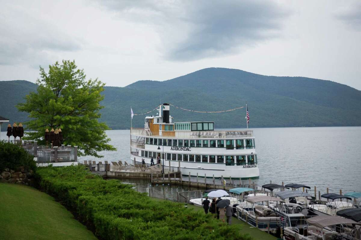 Have your ceremony in a church or outside then move on a boat and cruise up Lake George. (Courtesy Dave Bigler Photography)