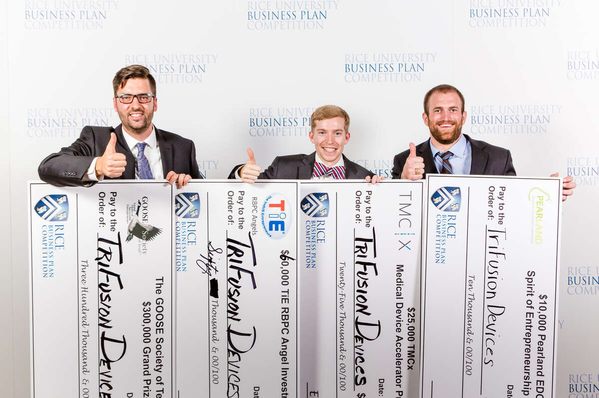 TriFusion Devices from Texas A&M University was the grand prize winner of the 2016 Rice Business Plan Competition.