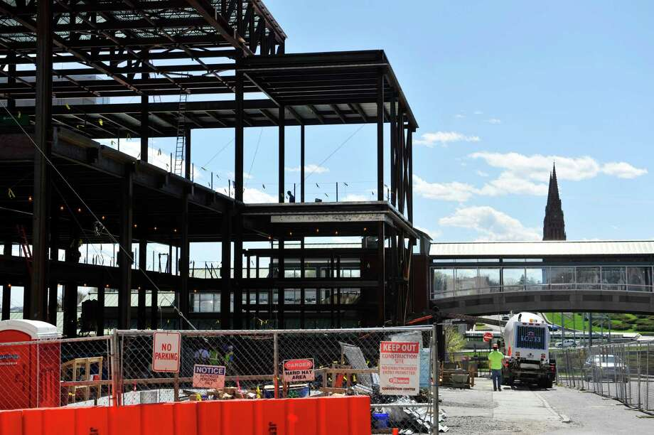 Construction work continues on the Albany Convention Center, seen here on Tuesday, April 19, 2016, in Albany, N.Y.  (Paul Buckowski / Times Union) Photo: PAUL BUCKOWSKI / 10036251A