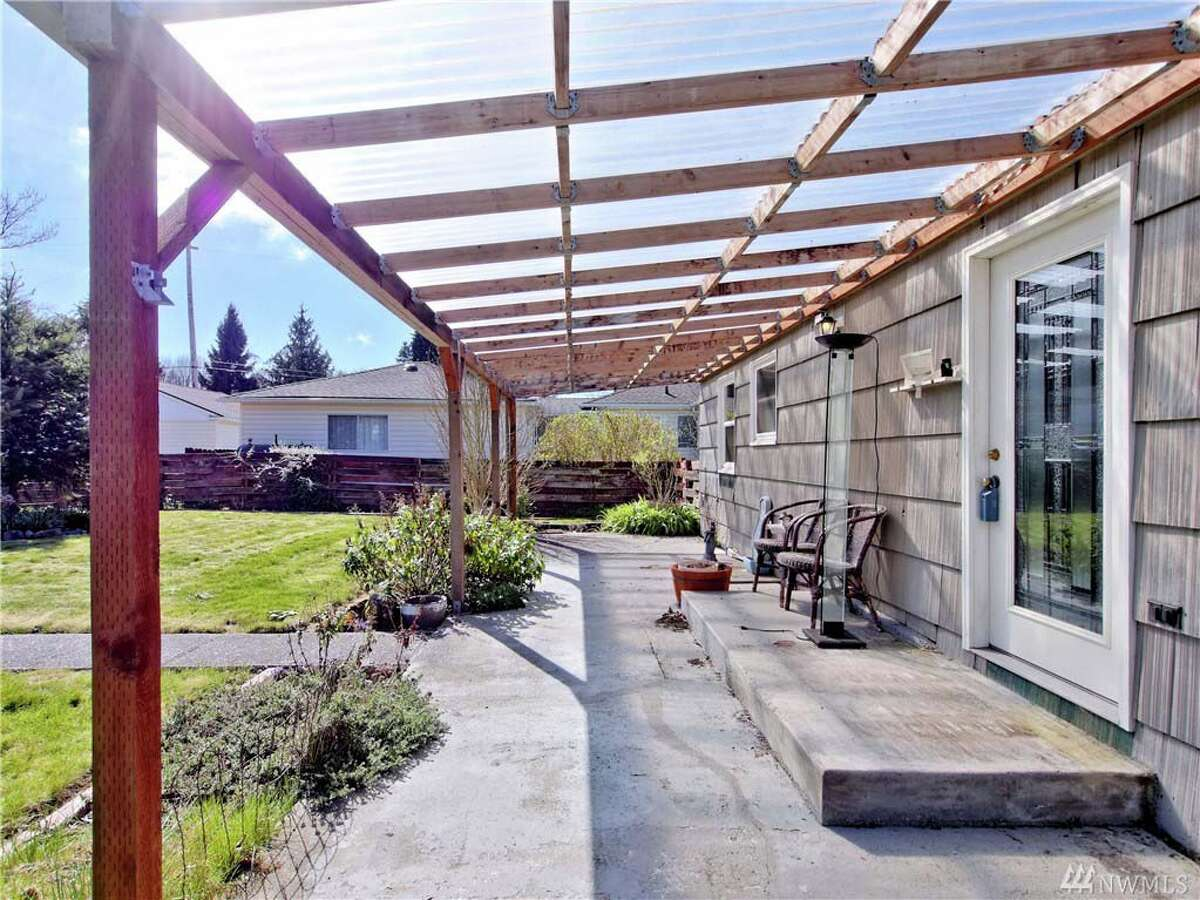 The back porch area of 7843 Yakima Ave.