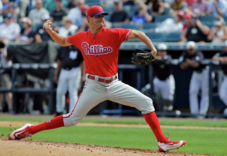 Philadelphia Phillies starting pitcher Mark Appel delivers to the New York Yankees during the sixth inning of a spring training baseball game Thursday, March 3, 2016, in Tampa, Fla. Photo: Chris O'Meara, AP / AP