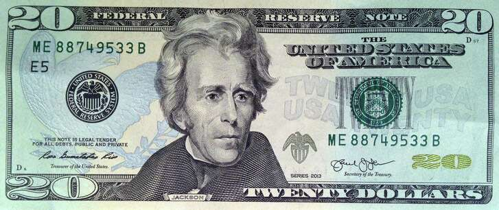 FILE - This April 17, 2015, file photo provided by the U.S. Treasury shows the front of the U.S. $20 bill, featuring a likeness of Andrew Jackson, seventh President of the United States. U.S. Treasury officials declined to comment Monday, April 18, 2016, on the specifics of a CNN report that Treasury Secretary Jacob Lew has decided to keep Andrew Hamilton, the first U.S. Treasury secretary, on the $10 bill, and instead replace Jackson's portrait on the $20 bill with a woman who represents the struggle for racial equality. (U.S. Treasury via AP)