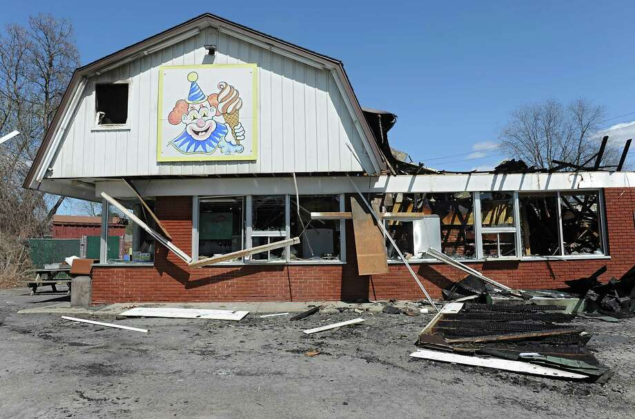 Scene at the Dairy Circus, a Scotia landmark that was destroyed by fire on Monday on Tuesday, April 19, 2016 in Scotia, N.Y. (Lori Van Buren / Times Union) Photo: Lori Van Buren / 10036249A