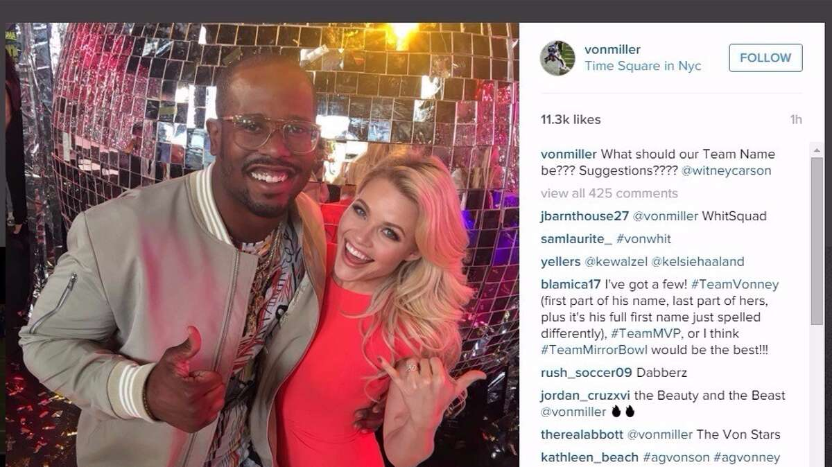 Von Miller shows his joy of performing on