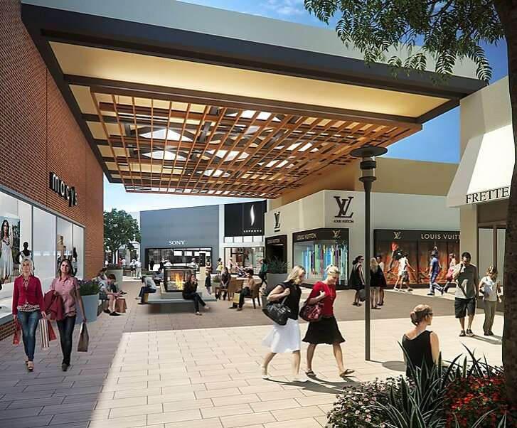 Stanford Shopping Center in Palo Alto is unveiling 45 new stores in the 120,000 square foot site formerly occupied by Bloomingdale's. These renderings give a sense of its new look.