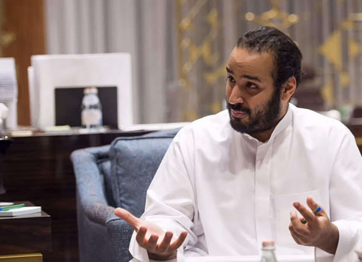 Mohammed Bin Salman, Saudi Arabia's Deputy Crown Prince, during an interview in Riyadh, Saudi Arabia, on March 30. (MUST CREDIT: Saudi Arabia's Royal Court)
