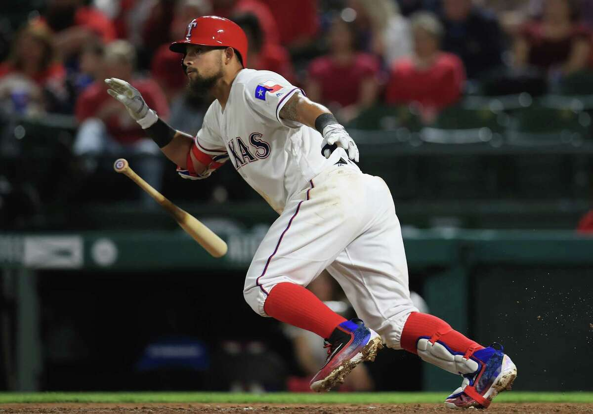 The Rangers showed a lineup that doesn't fall off once it gets to the seventh, eighth and ninth batters.Rougned Odor (pictured) went 3 for 8 with a homer and two runs scores, while Elvis Andrus had two doubles from the eighth spot and added a triple Thursday. Catchers Bryan Holaday and Brett Nicholas combined to reach base five times from the ninth spot. By comparison, the Astros' final three spots in their order - both starters and late-game pinch hitters - went a combined 4 for 33 with three walks, one run scored and 10 strikeouts.