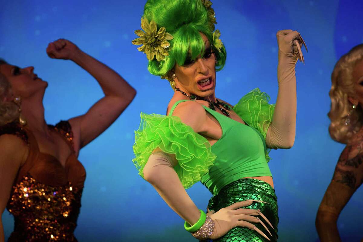 A performer in RuPaul's Drag Race Battle of the Seasons 2016 Extravaganza Tour at Showbox Sodo on Tuesday, April 19, 2016.