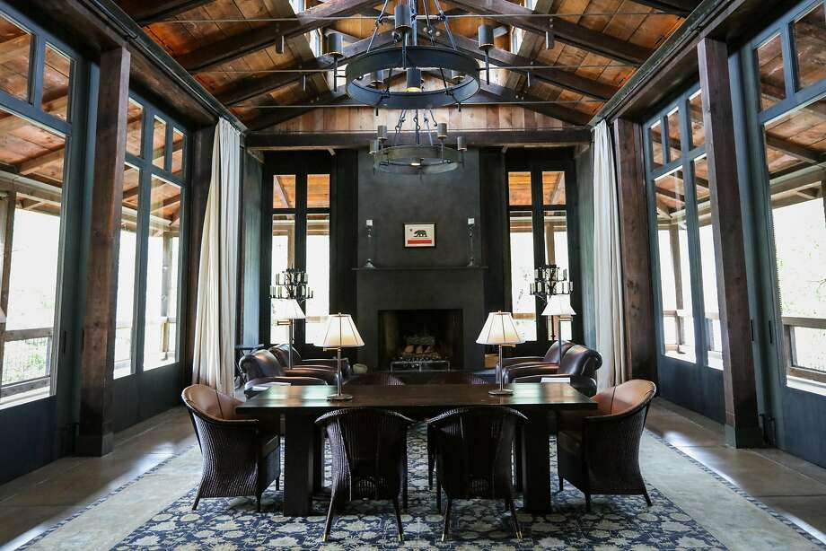 The tasting room at Harlan Estate in the hills of Napa. Photo: Gabrielle Lurie, Special To The Chronicle