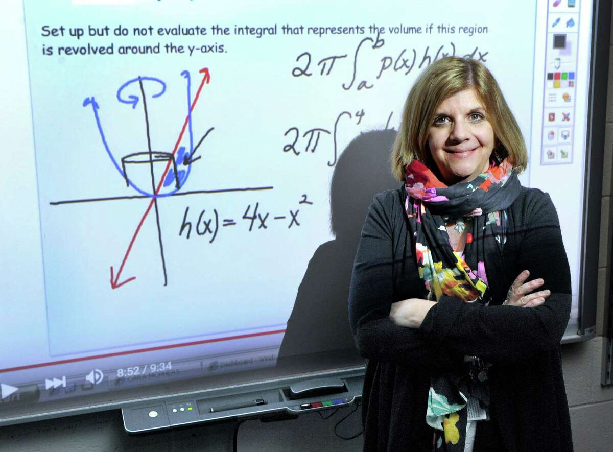 Shepaug Valley School mathematics instructor and coach Marianne Maher has been named Region 12 Teacher of the Year for 2016. Photo Friday, April 8, 2016.