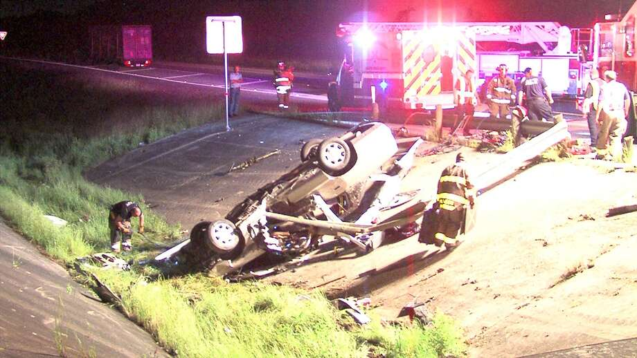 A young woman was seriously injured in a rollover crash on the Northeast Side Wednesday morning, according to police. Photo: 21 Pro Video