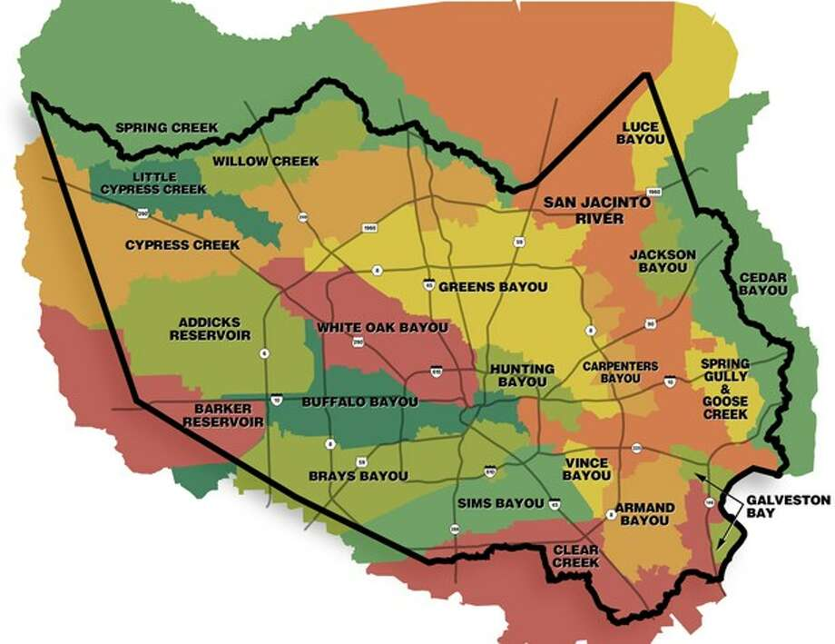 Harris County's watersheds. Photo: Harris County Flood Control District