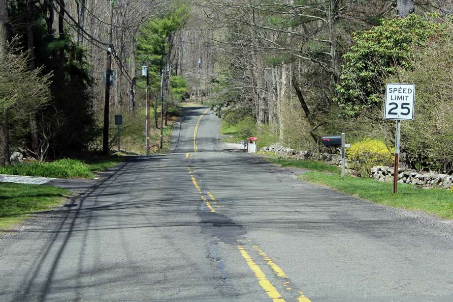 Valley Road is set to be repaved, from Hikock to Osbourn, as are other roads in town. Photo: Thane Grauel / Hearst Connecticut Media / New Canaan News