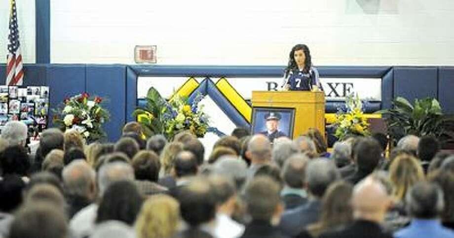 Dave DeCourval's funeral service