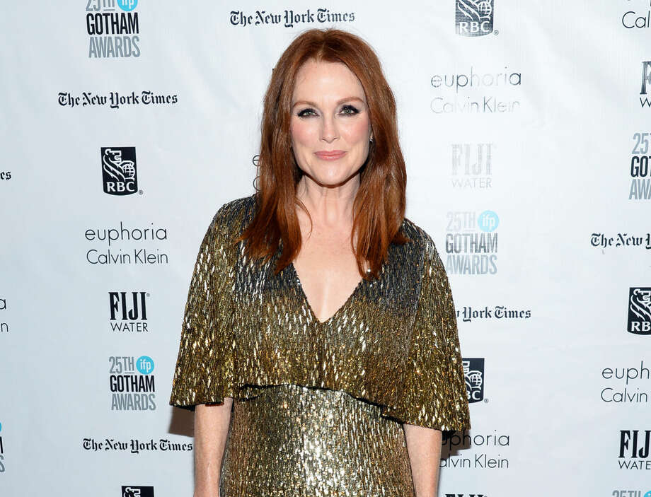"FILE - In this Nov. 30, 2015, file photo, actress Julianne Moore attends The Independent Filmmaker Project's 25th Annual Gotham Independent Film Awards in New York. Moore is among several L'Oreal brand ambassadors participating in a ""WorthSaying"" promotion on Twitter during the Golden Globes on Sunday, Jan. 10, 2016. (Photo by Evan Agostini/Invision/AP, File) Photo: Evan Agostini"