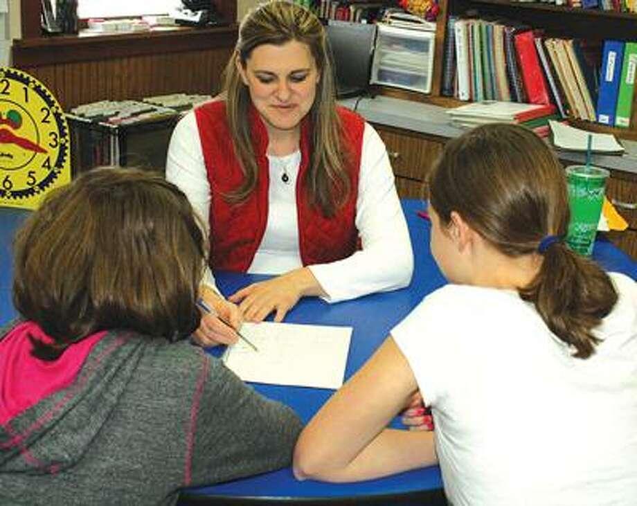 Teacher Jessica Tenbusch during class.