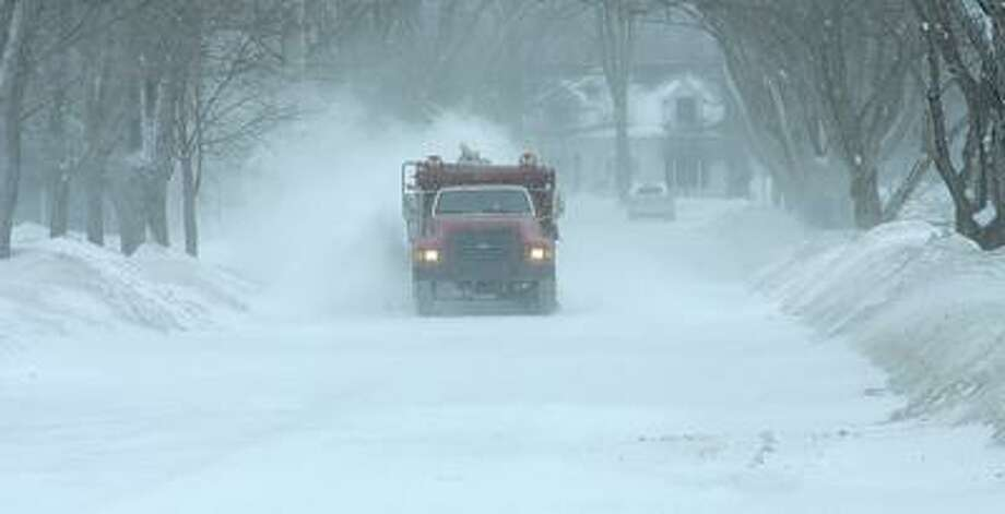 Plows were out Wednesday afternoon in Bad Axe.