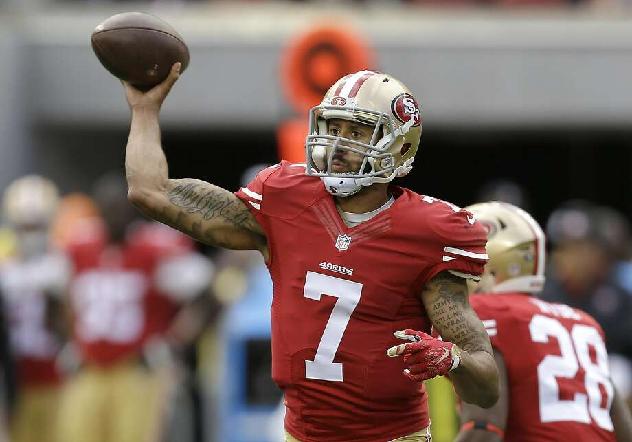 In this Oct. 18, 2015, file photo, San Francisco 49ers quarterback Colin Kaepernick passes against the Baltimore Ravens during the first half of an NFL football game in Santa Clara, Calif.  Photo: Ben Margot, AP