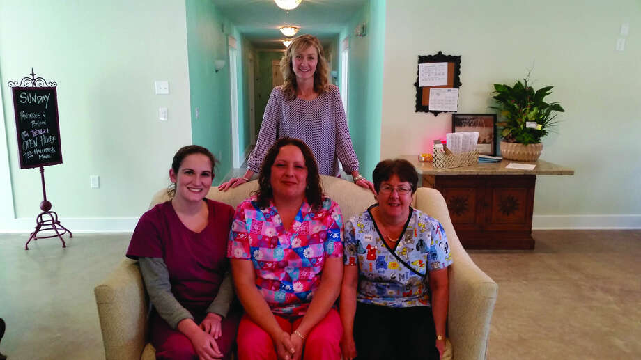 Front (from left), Ashley Volk, Danielle Shavinski and Sharon Gisel are resident assistants, and (back row) the owner is Jill Babcock Meeks. (Submitted Photo)