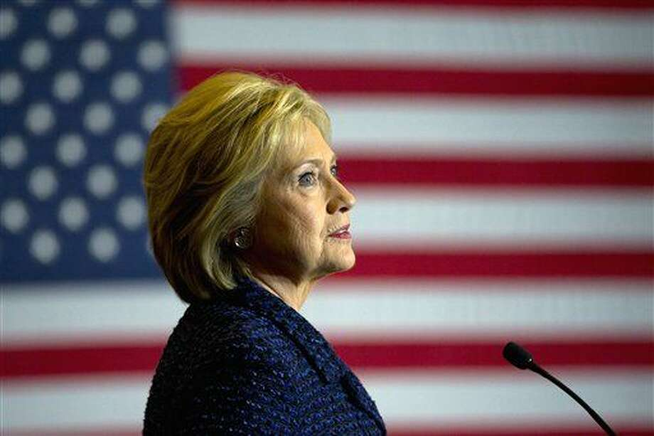 Democratic presidential candidate Hillary Clinton speaks during a rally on the campus of Simpson College, Thursday, Jan. 21, 2016, in Indianola, Iowa. (AP Photo/Jae C. Hong)