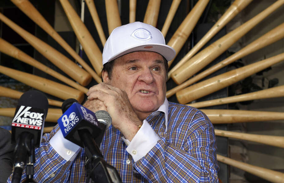 FILE - In this Dec. 15, 2015, file photo, former baseball player and manager Pete Rose speaks at a news conference, in Las Vegas. Pete Rose is headed into the team hall of fame in his hometown, the Cincinnati Reds said Tuesday, Jan. 19, 2016. The Reds' announcement came after MLB commissioner Rob Manfred last month rejected Rose's application for reinstatement. (AP Photo/Mark J. Terrill, File) Photo: Mark J. Terrill