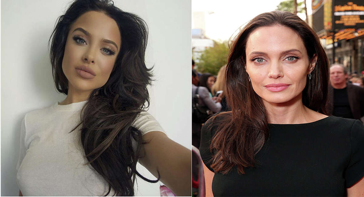 Model Mara Teigen looks an awful lot like Angelina Jolie, who won an Oscar for her role in