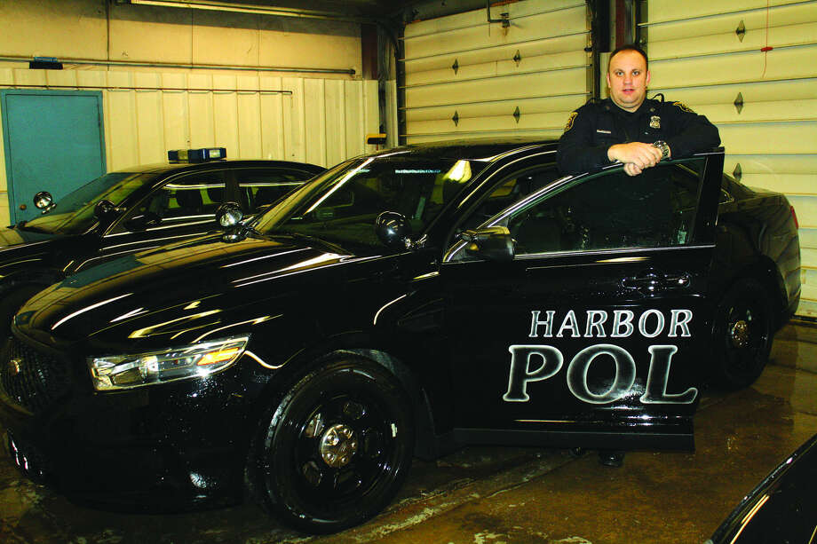 Officer Dave Navock is the newest addition to the Harbor Beach Police Department. The new officer was hired full time about the time the city received its new police car, a 2016 Ford Interceptor.