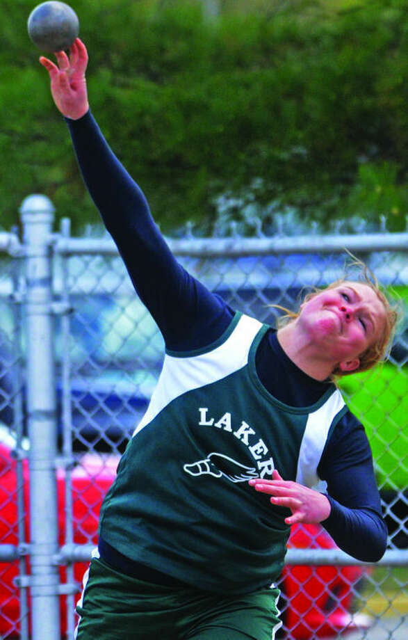 EPBP's Kayla Deering turned in a career performance Saturday at the Division 3 regional, tossing 45-1 1/2 to win the championship.