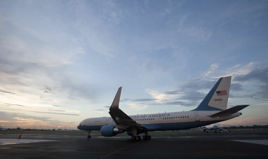 FILE - In this Aug. 14, 2015 file photo, the airplane carrying U.S. Secretary of State John Kerry prepares to depart the airport in Havana, Cuba, after the reopening of the U.S. Embassy after 54 years of broken diplomatic relations. The United States and Cuba will sign an agreement in late Feb. 2016 to resume commercial air traffic for the first time in five decades, U.S. officials said Friday, Feb. 12, 2016, starting the clock on dozens of new flights operating daily by next fall. (AP Photo/Ismael Francisco, Cubadebate, File) Photo: Ismael Francisco
