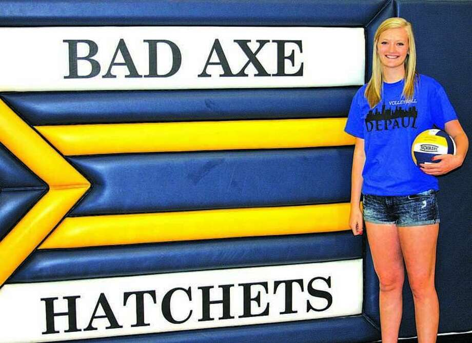 Rachel Breault of Bad Axe is following a family tradition by playing collegiate volleyball — as she heads to DePaul University in Chicago.